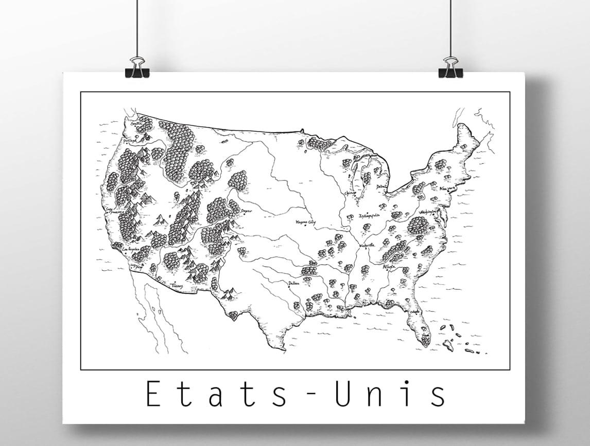 Image of Carte des Etats-Unis