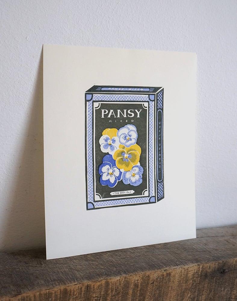 Image of May Print - Pansy