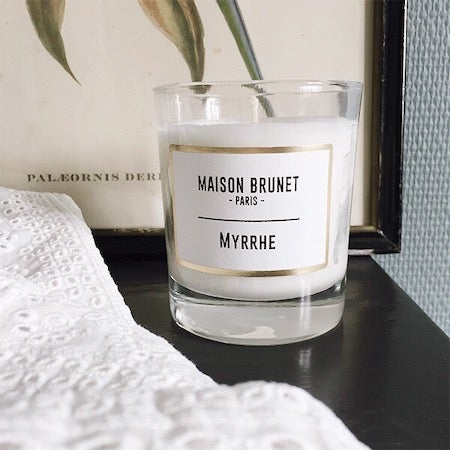 Bougie Myrrhe - Maison Brunet Paris