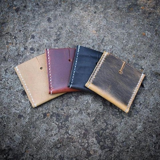 Image of Leather Pocket State Holder