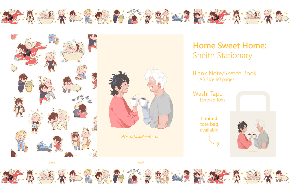 Image of Home Sweet Home: Sheith Stationery & Bag