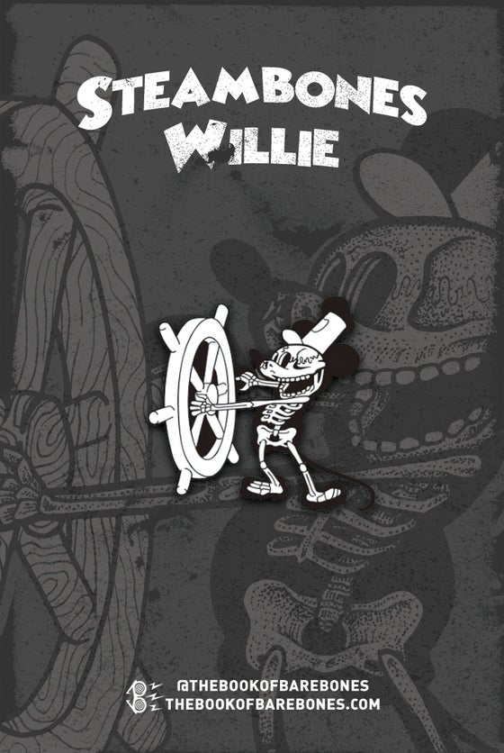 Image of Steambones Willie Enamel Pin