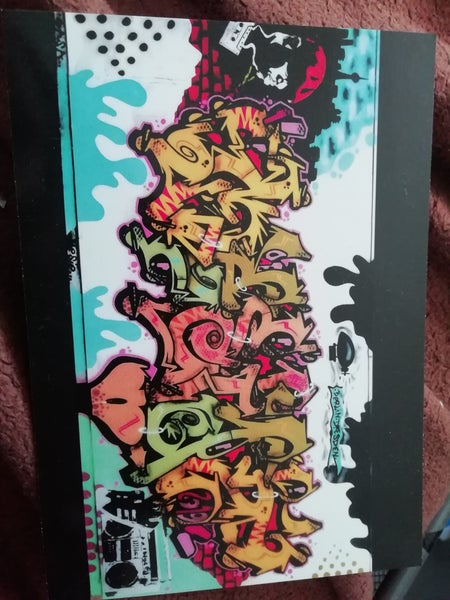 Image of Postcard with Graffiti and stencil art from me and Mr. Sasa