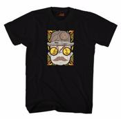 Image of Cinelli JEREMY FISH 'MR CAT HAT' T-Shirt Black