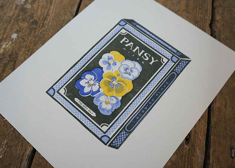 Image of May Print - Pansy