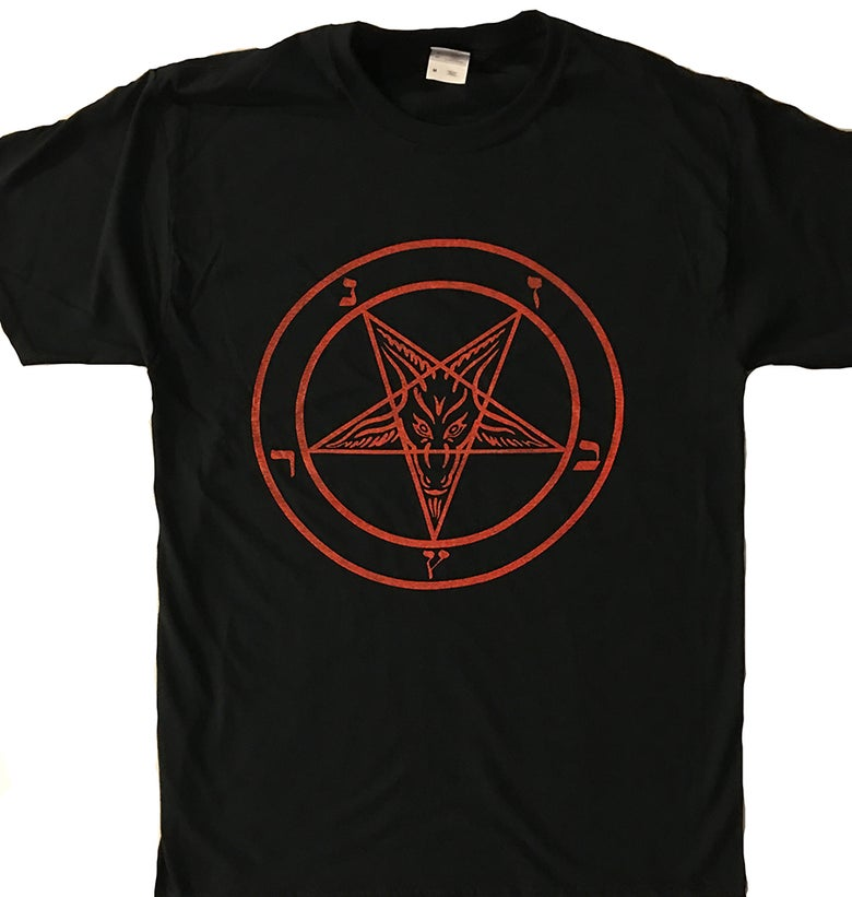 Image of Pentagram - T shirt with Red Print