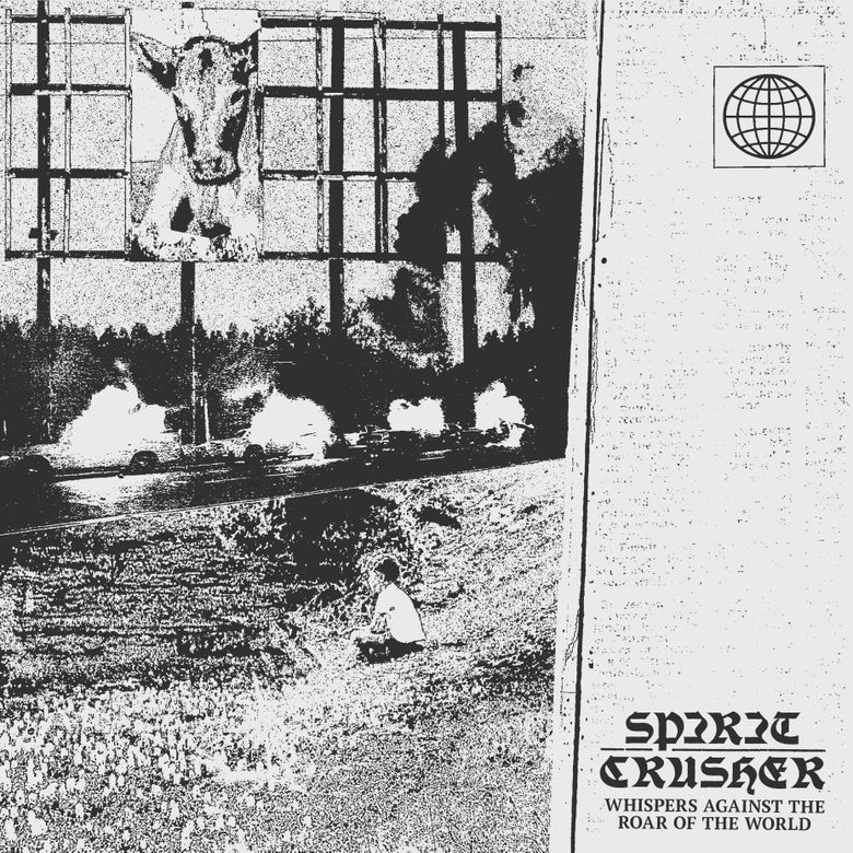 """Image of SPIRIT CRUSHER """"Whispers Against the Roar of the World"""" 12"""" Exclusive Grey Vinyl"""