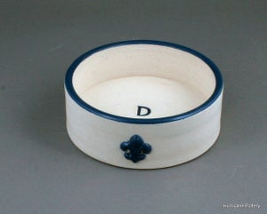 Image of Personalized Wine Bottle Coaster in Creamy White with Navy Stain