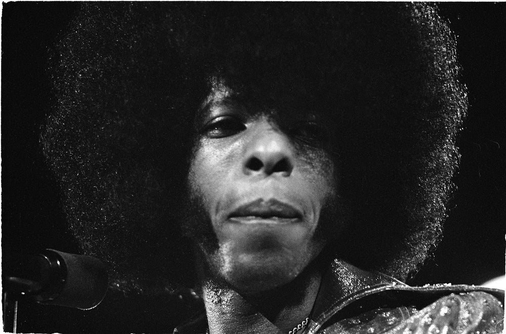 Image of Sly Stone in his funkiest prime