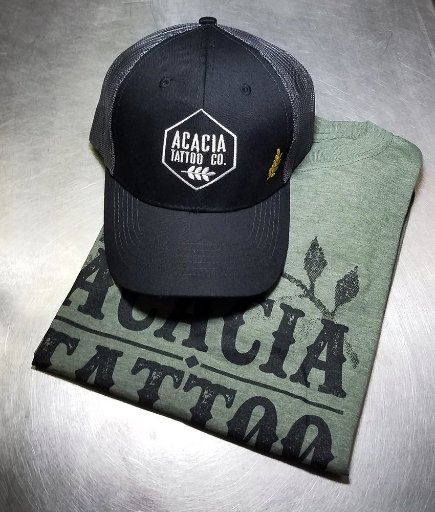 Image of Military Green Shirt and Hat Combo