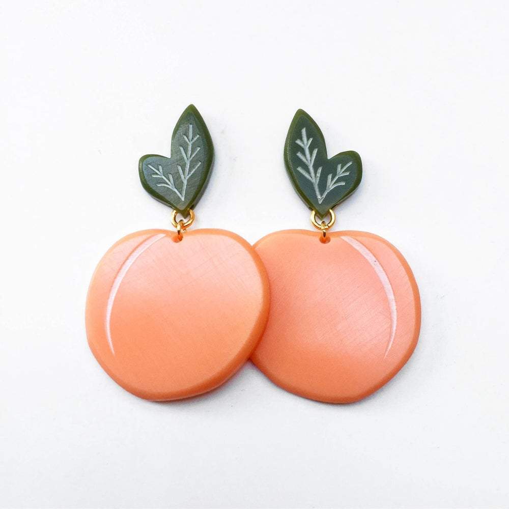Image of Peach Earrings
