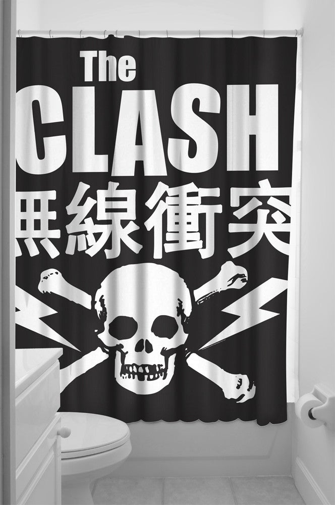 Image of Clash Fabric Shower Curtain
