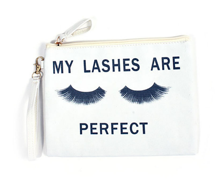 Image of My lashes are perfect canvas bag