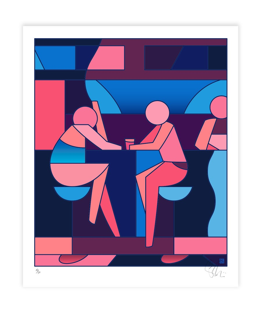 Image of 'Less Than Zero' - Giclée digital art print