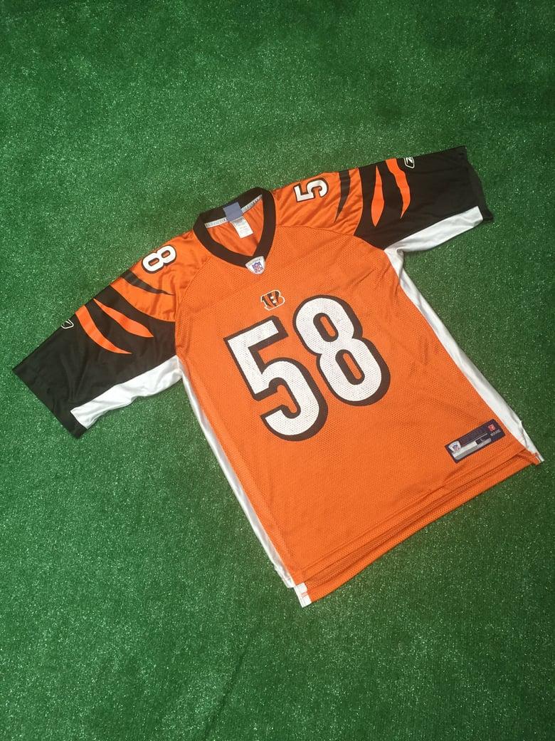 Image of Vintage 2008 Rey Maualuga Cincinnati Bengals Jersey (Size Large)