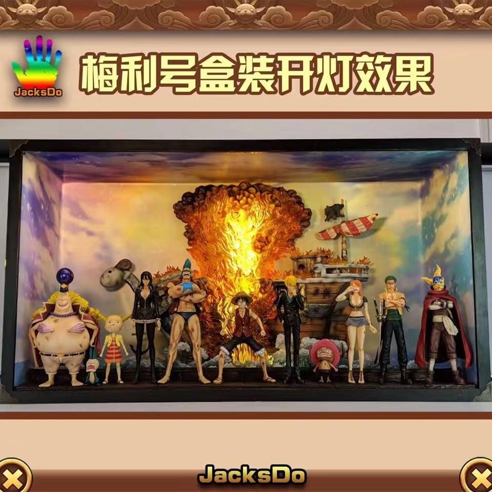 Image of One Piece JacksDo Studio Good Bye Going Merry Diorama Resin Statue