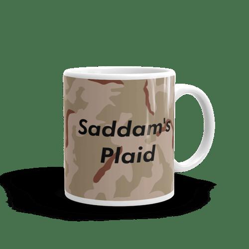Image of Saddam's Plaid Mug - 11oz
