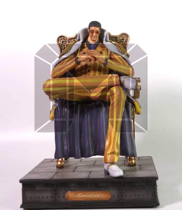 Image of One Piece Model Palace Studio Marine Admirals Borsalino Kizaru Resin Statue