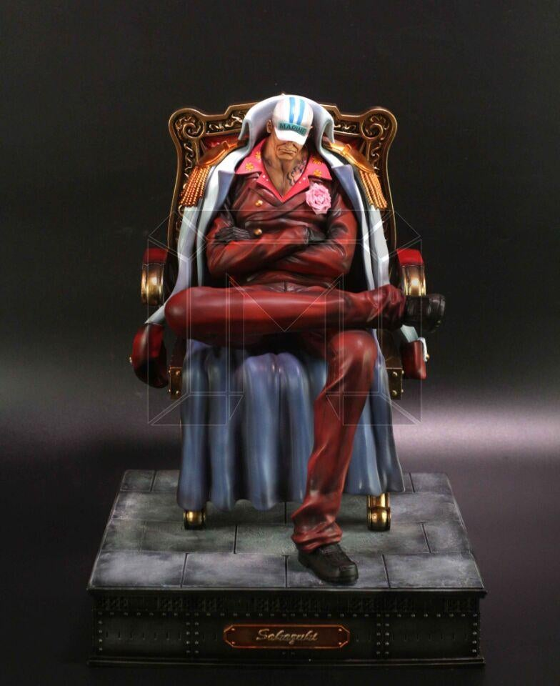 Image of One Piece Model Palace Studio Marine Admirals Sakazuki Akainu Resin Statue