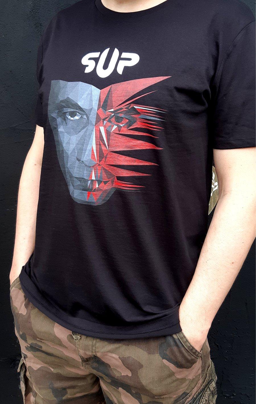 Image of T-Shirt noir pochette Dissymmetry couleur Homme