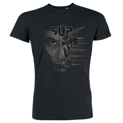 Image of t shirt homme Dissymmetry noir et blanc