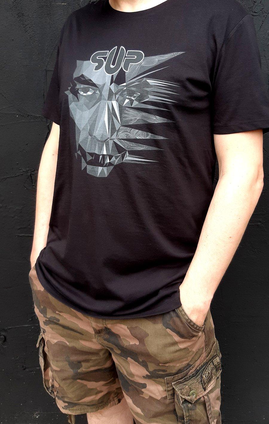 Image of t shirt homme Dissymmetry noir et blanc