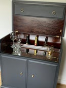 Image 4 of PROFESSIONALLY PAINTED Dark grey stag drinks cabinet
