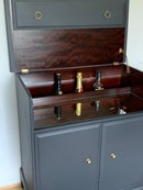 Image 3 of PROFESSIONALLY PAINTED Dark grey stag drinks cabinet