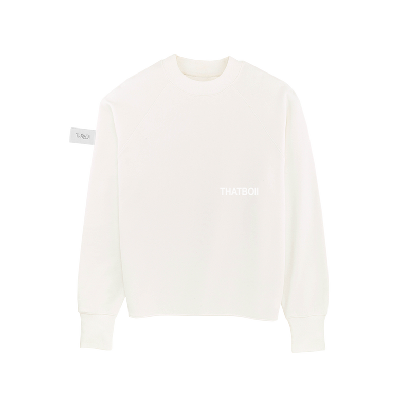 Image of thatboii cropped crewneck - off white