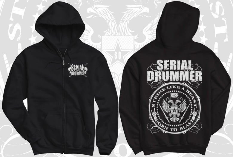 Image of BORN TO BLAST HOODY ZIP (RECTO VERSO)