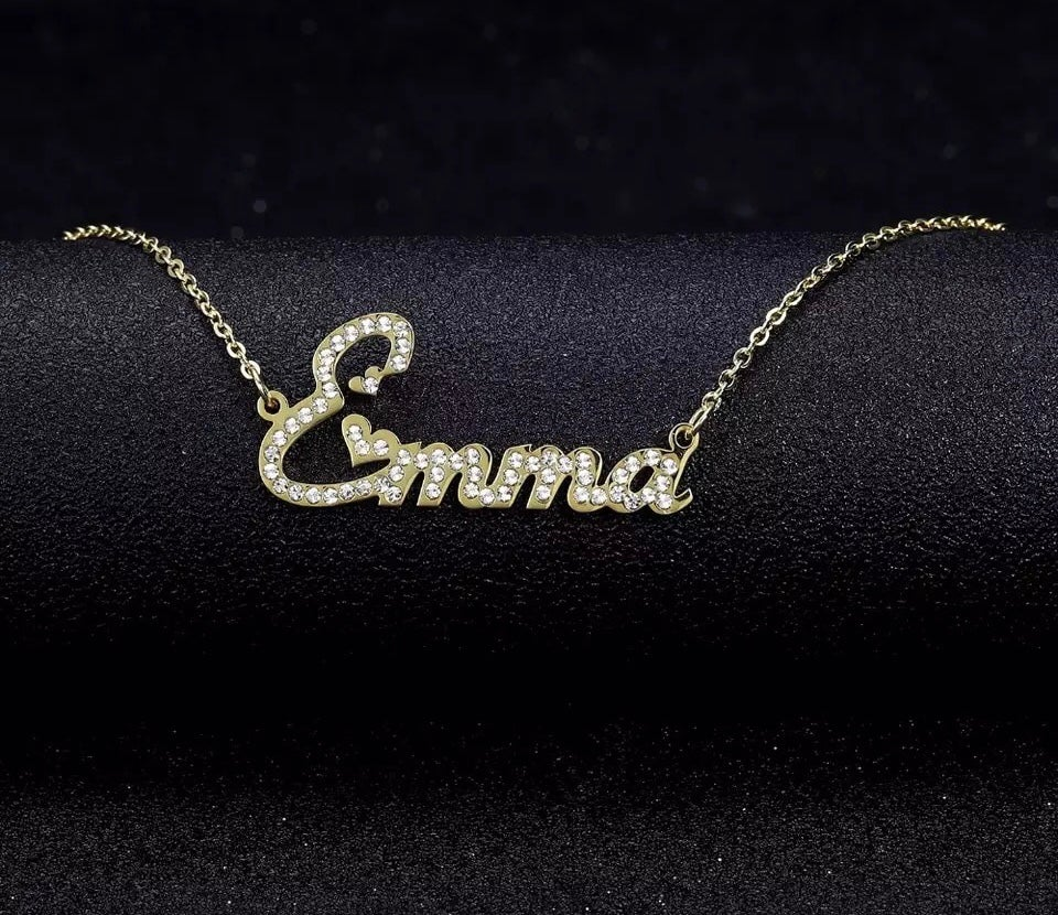 Image of Personalised Name in English With Zirconia Crystals font 2