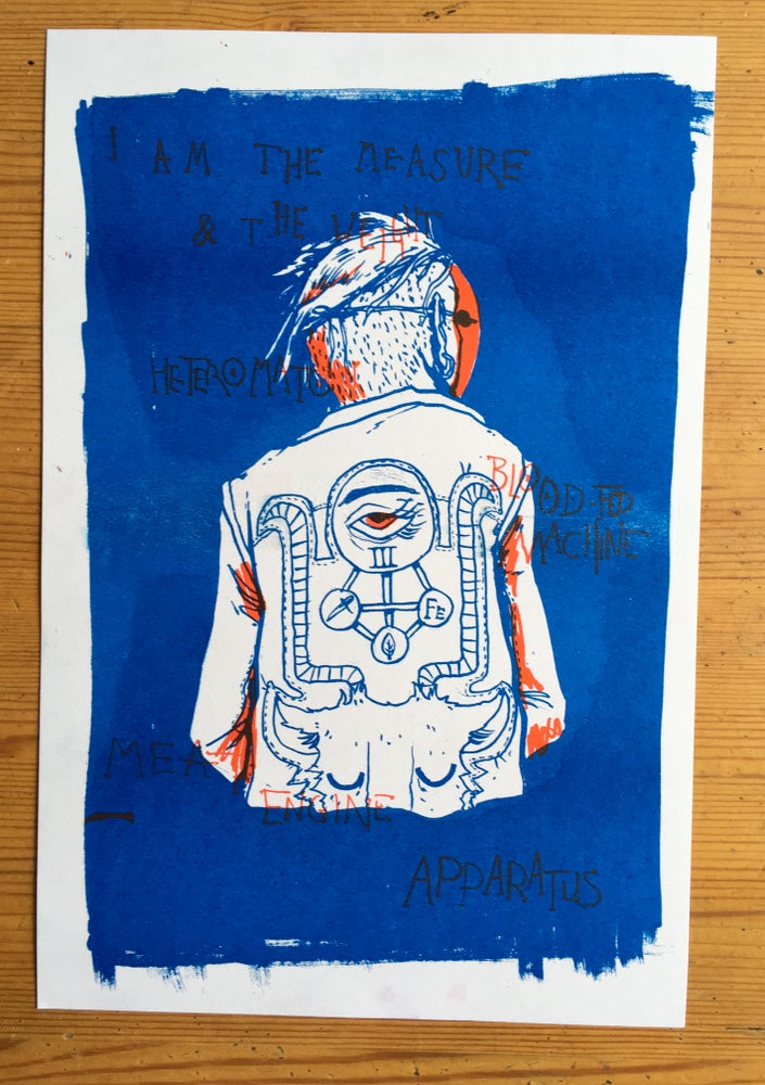 Image of Blood Filled Machine Riso Print