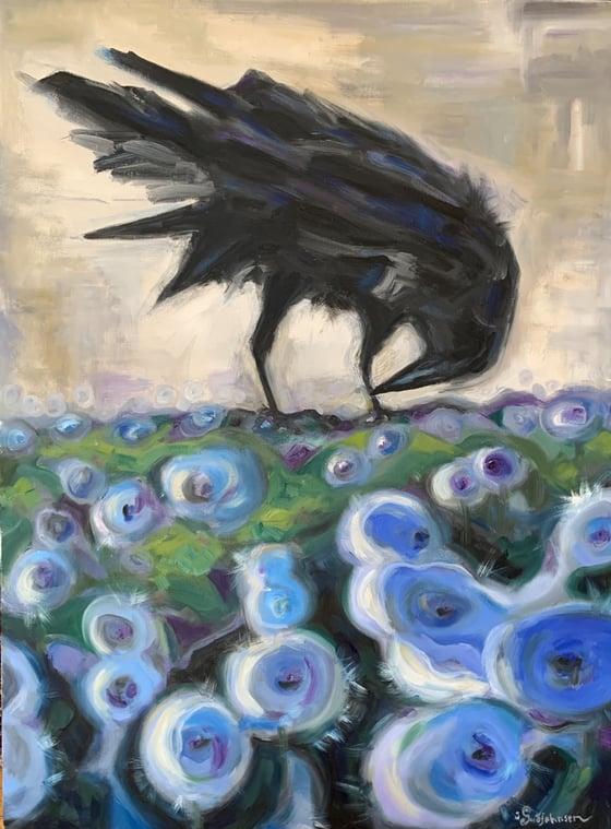 Image of Krummi & fífur - Raven & cottongrass