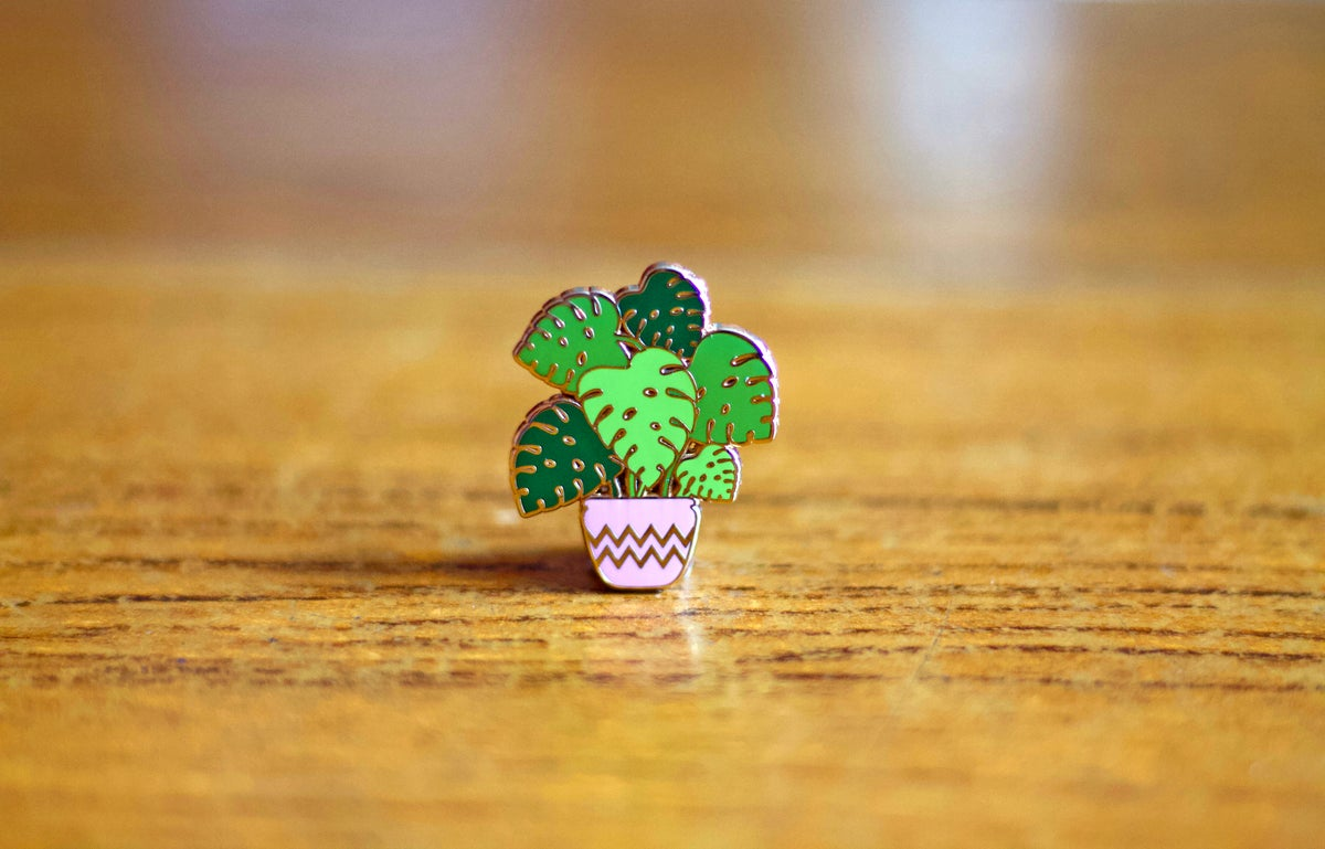 Image of Monstera Cheese Plant Enamel Pin