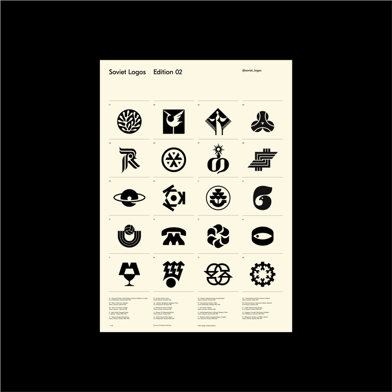 Image of Soviet Logos Poster Edition 02