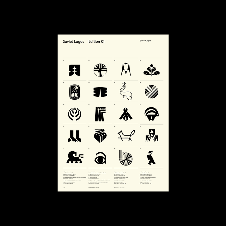 Image of Soviet Logos Poster Edition 01