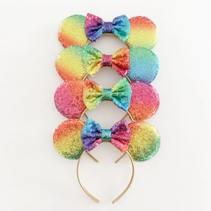 Image of Rainbow Sequin Mouse Ears