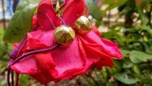 """Image of Golden """"Flower Cut"""" Adjustable Bracelet"""