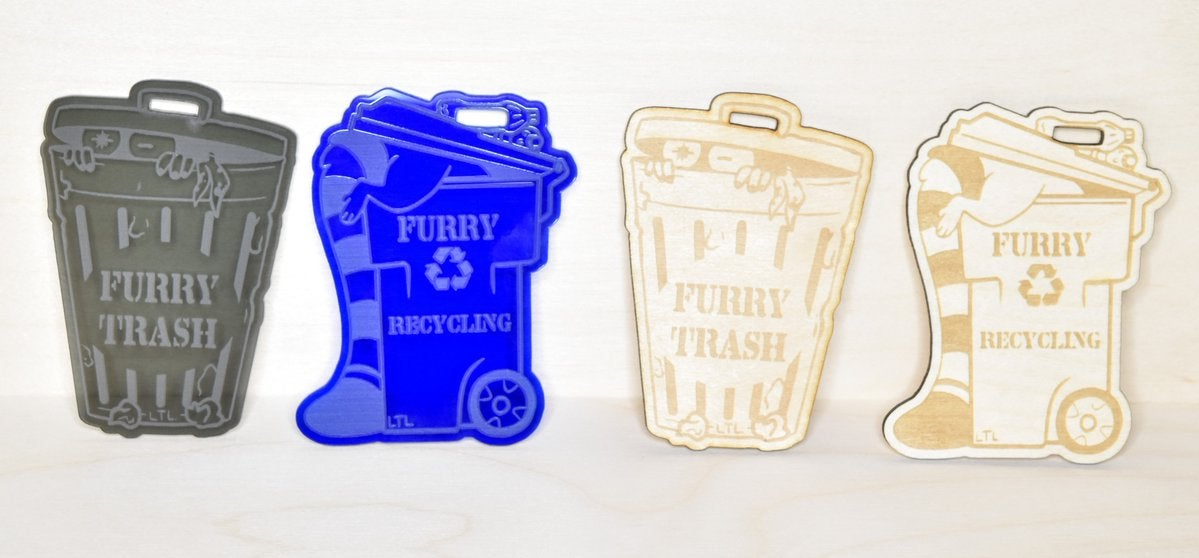 Image of Furry Trash/Recycling Badge