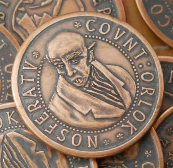 Image of Nosferatu Copper Coin Weathered