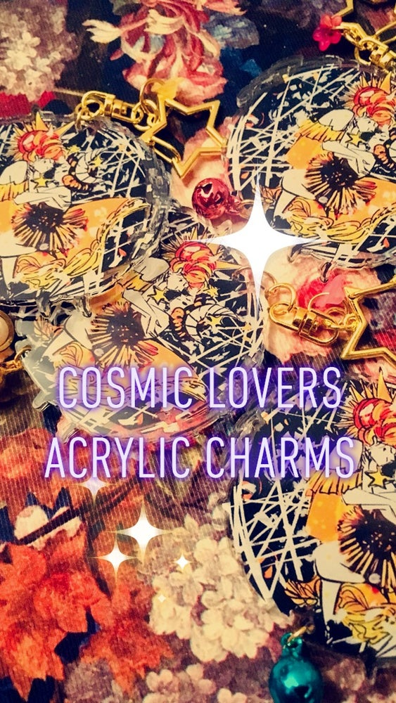 Image of cosmic lovers acrylic charms