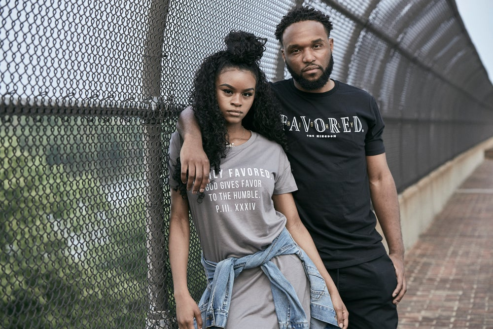 Image of Men's Black Simple Highly Favored//The Kingdom Tee