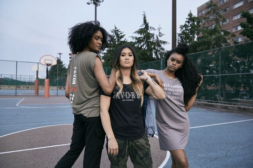 Image of Women's Black Simple Highly Favored//The Kingdom Tee