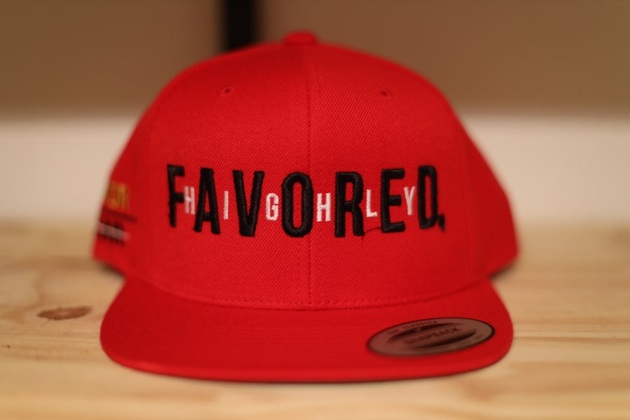Image of Red Highly Favored//Favor Over Fear Snapback Hat