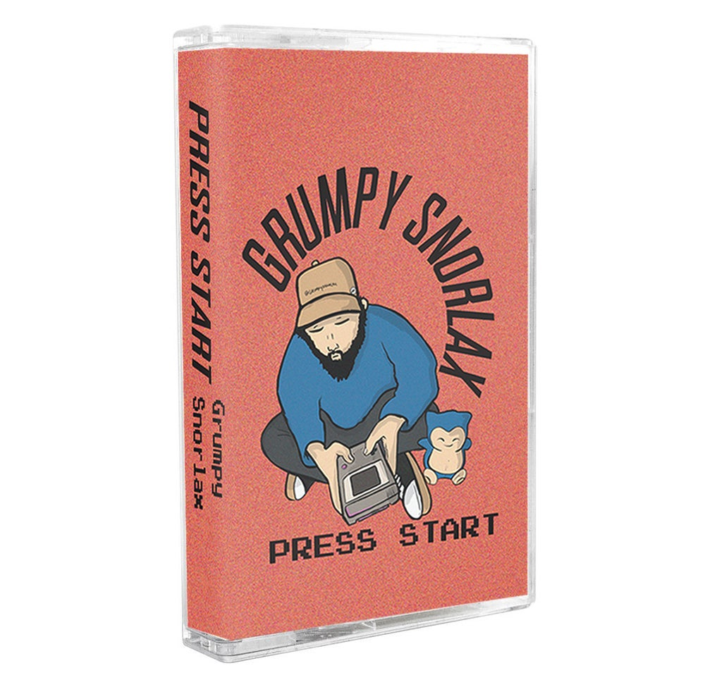 Image of Grumpy Snorlax - press start [limited cassette]