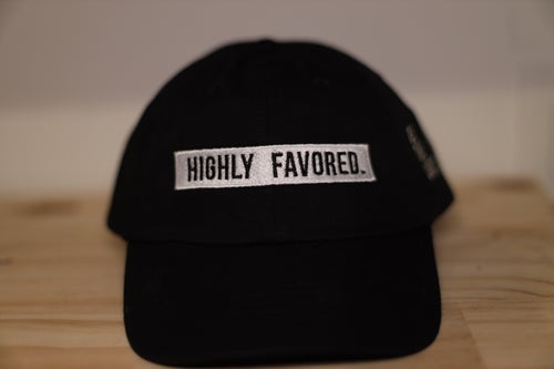 Image of Black Highly Favored Dad Cap//Be The Light.