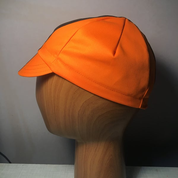 Image of Poly cotton twill cycling cap - orange !