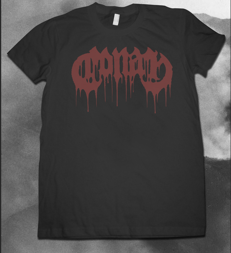 Image of NEW LOGO SHIRT - RED ON BLACK