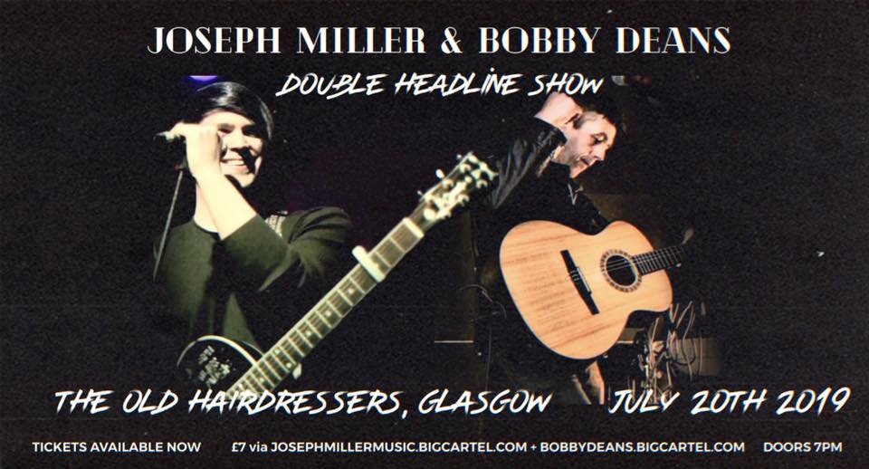 Image of The Old Hairdressers Glasgow - Joseph Miller and Bobby Deans: Double headliner show