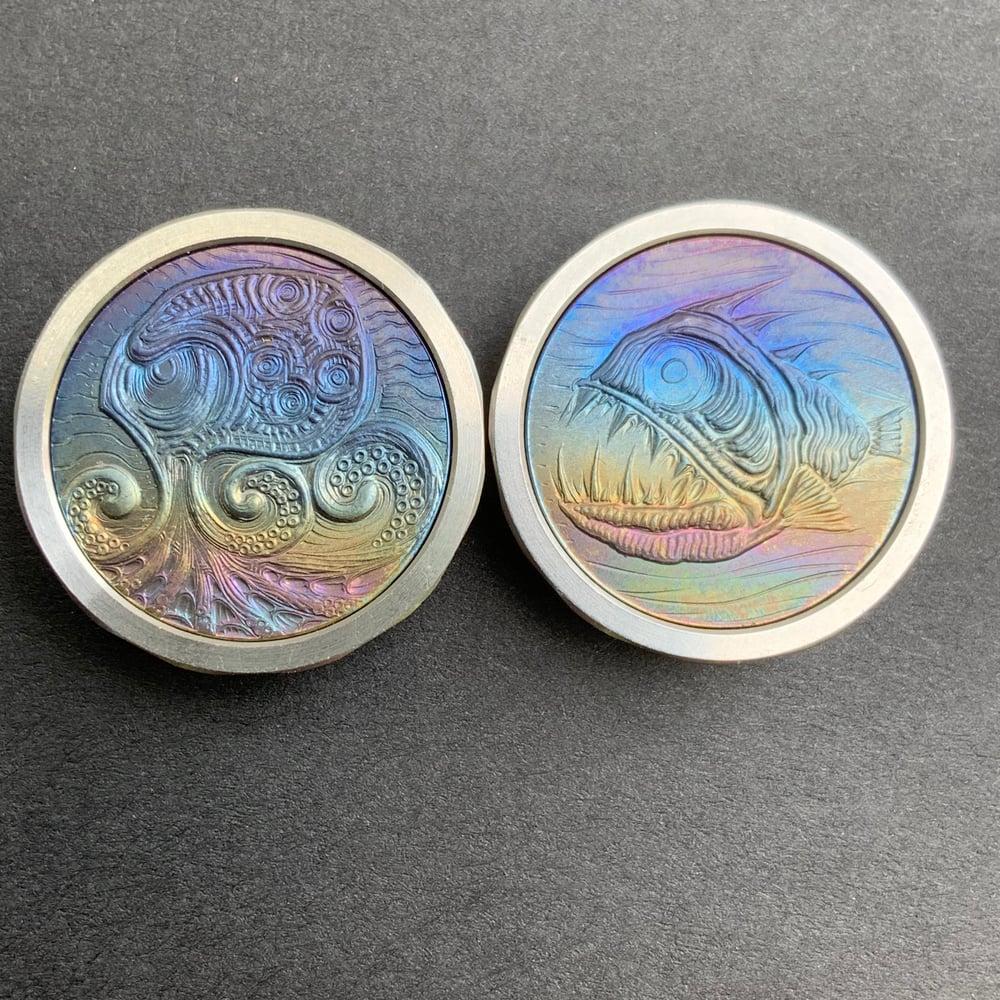 Image of Titanium AngrFish2 buttons